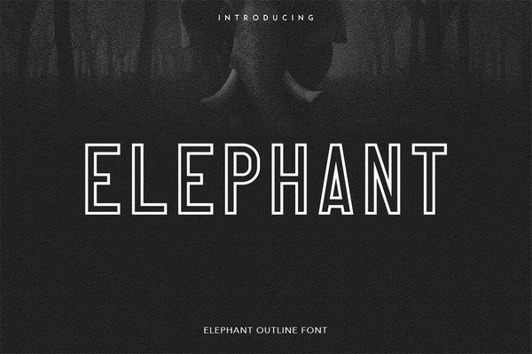 The Elephant Font is perfect for branding projects, publication headers and more.