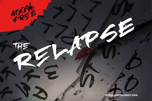Freebies Every Graphic Designer Needs - The Relapse Font is a handmade font perfect for strong headlines.