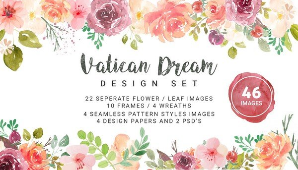 Use Vatican Dream to add a light, dainty look into your design.