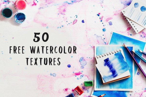 Vibrant Watercolour Textures is another beautiful watercolor-inspired design set.
