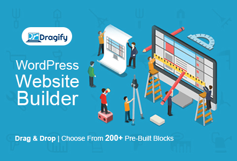 With Dragify page builder you can build an awesome looking website.