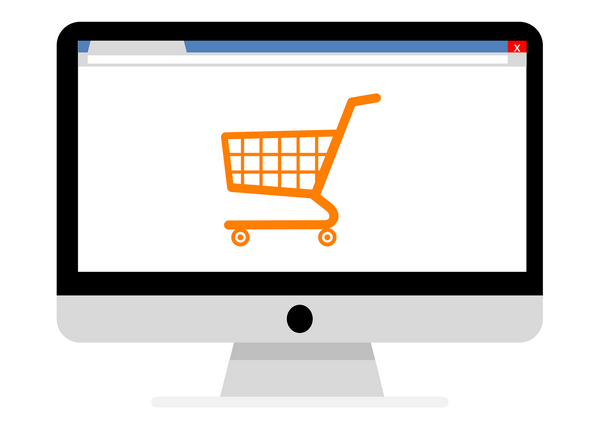 Most e-commerce sites usually have a small shopping cart icon.