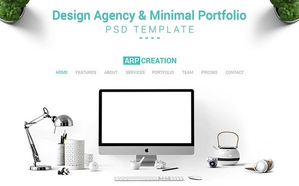 ARP Creation is a design agency PSD template.