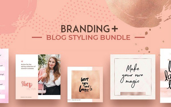 The Branding + Blog Styling Bundle helps you build a big brand.