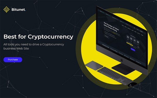 Bitunet is a cryptocurrency Elementor WordPress theme.