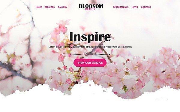 BlossomBeauty is a Beauty PSD template.