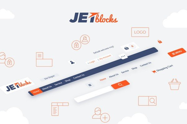 JetBlocks adds extra widgets for adding login and registration forms.