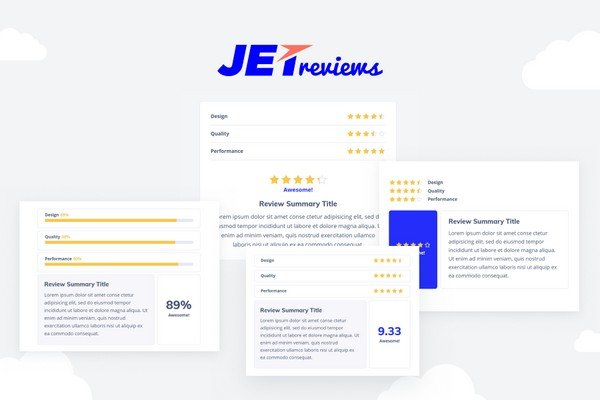 JetReviews is an Elementor assists in creating reviews and adding ratings to the pages built with Elementor.