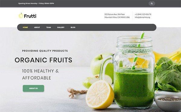 Frutti Organic Food is a multipurpose Elementor WordPress theme.