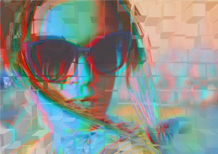 Glitch Art is a retro art that will give you a memory of a malfunction by a DVD player.