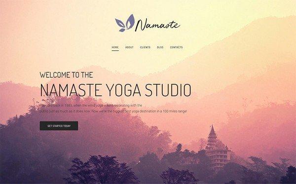 Namaste is a Yoga Studio Elementor WordPress theme.