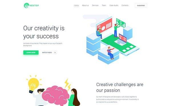 Nektop is a multipurpose Creative Elementor WordPress theme.