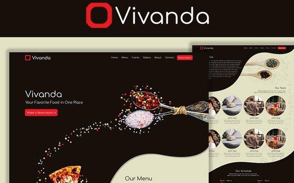 Vivanda is a restaurant PSD template.