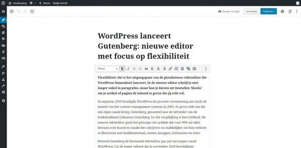 New WordPress 5.0 Features - Use plugins that work in compliance with Gutenberg.