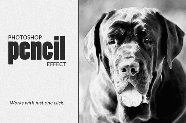 Mighty Design Bundle - Photoshop Pencil Effect.
