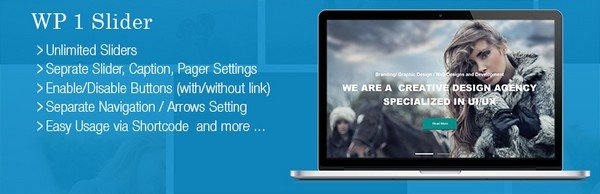 WP 1 Slider is a feature-rich WordPress plugin.