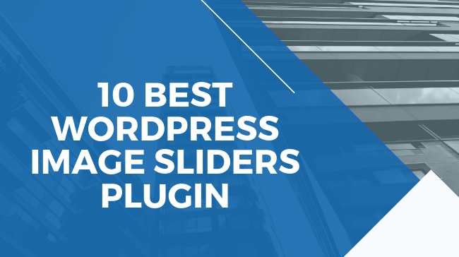 Best WordPress Image Sliders Plugin