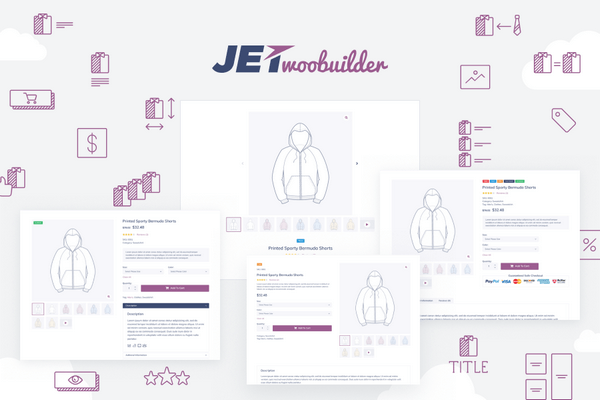 JetWooBuilder plugin enables Building WooCommerce Single Product page templates.