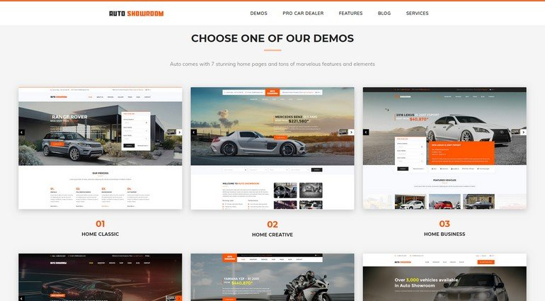 With Auto Showroom you can build a great looking vehicle vendor site.