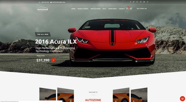 With Autozone you can create a vehicle vendor site.