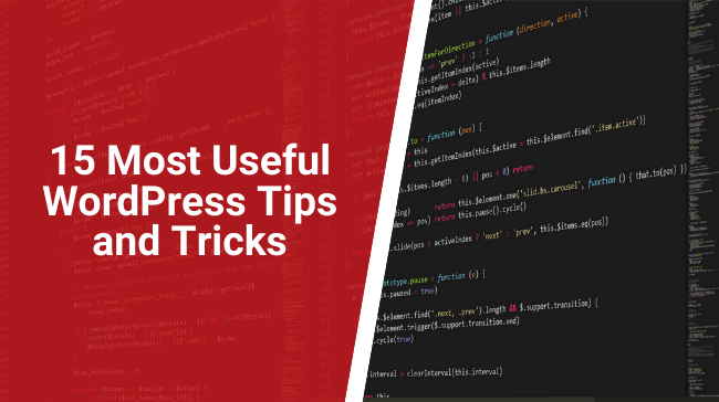 15 Most Useful WordPress Tips and Tricks