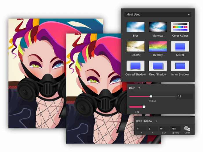 Gravit Designer is an excellent tool for graphic designers, illustrators, web, and app designers.