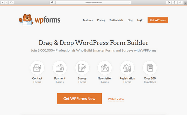 The WPForms plugin is a drag & drop builder where you can easily create any forms.