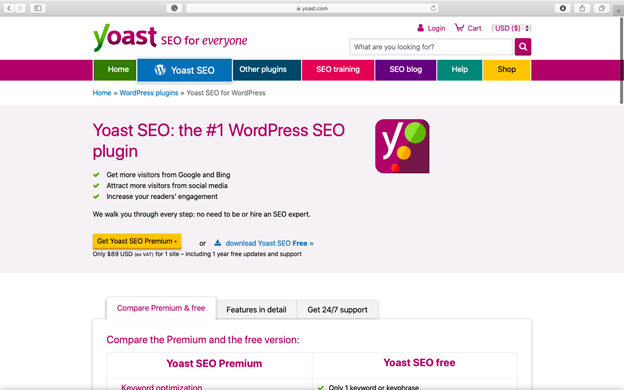 Yoast SEO is the most popular SEO WordPress plugin of all time.