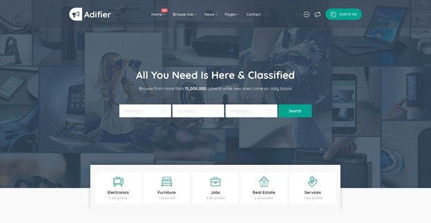 Adifier is a responsive WordPress theme for auction and classified ads.