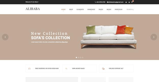 Alibaba is a responsive WordPress furniture theme.