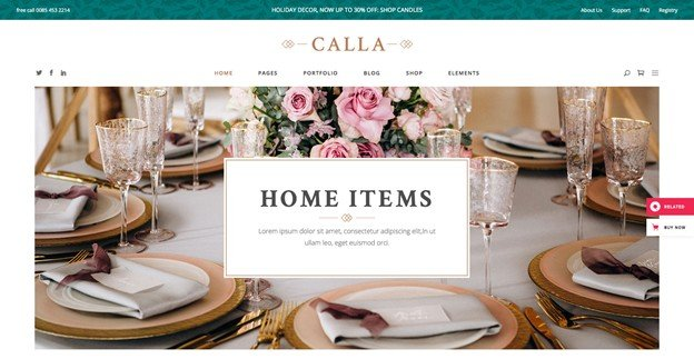 Calla is an elegant and modern WordPress furniture theme.