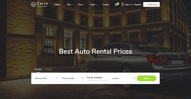 Cityo is a stylish and modern WordPress auction and directory listing theme.