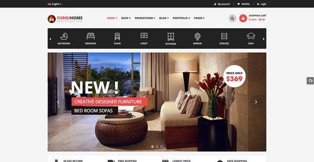 Furnihome is a stylish and modern furniture theme for WordPress.