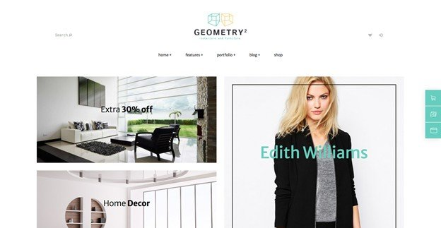 Geometry is a attractive and responsive WordPress furniture theme.