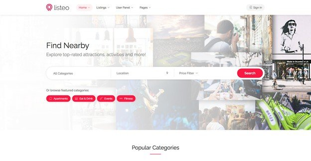 Listeo is a simple WordPress theme for auctions and listings.