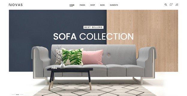 Novas is a WooCommerce WordPress theme perfect for furniture shops.
