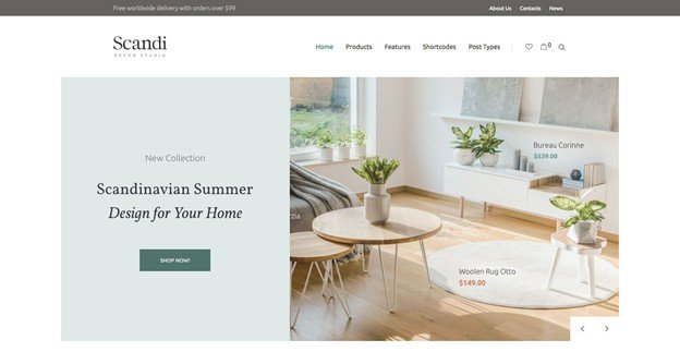 Scandi is a beautiful WordPress furniture theme.