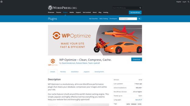 WP-Optimize is a all in one toolkit for improving your site performance.