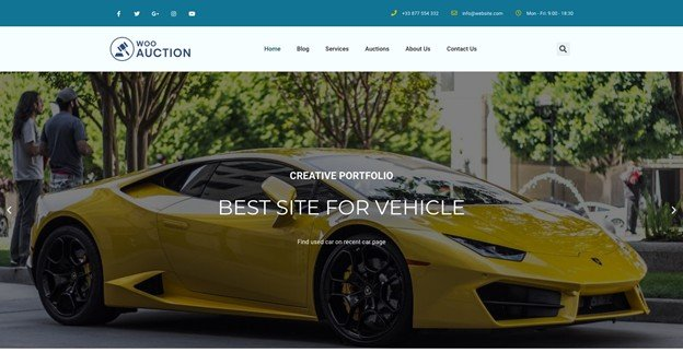 WooAuction is a feature-rich WordPress auction theme.