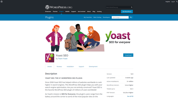 Yoast SEO is a WordPress plugin to optimize your site for getting a better SEO position.