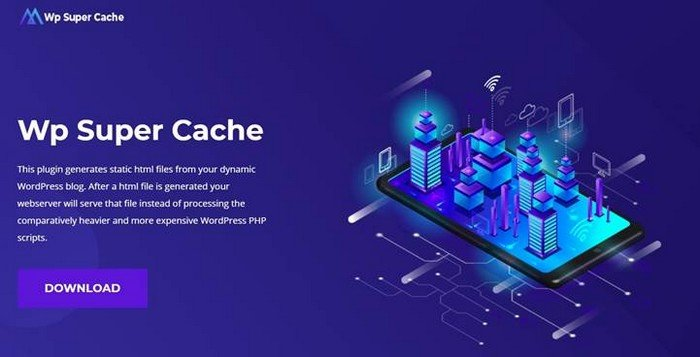 The WP Super Cache is one of the most popular plugins to increase site speed.