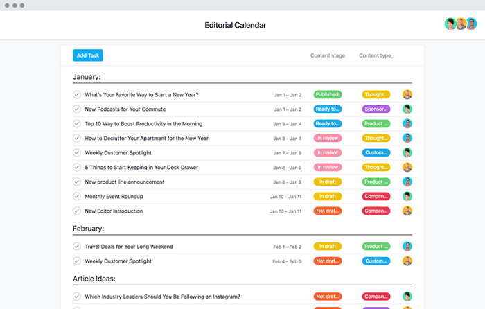 Create an editorial calendar so you can see your game plan divided orderly