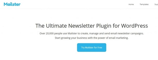 Mailster allows you to collect emails on your website.