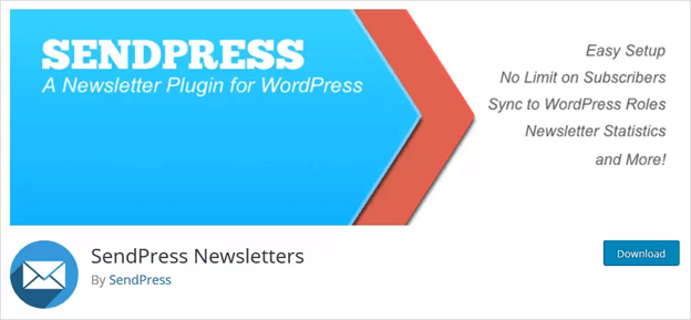 SendPress Newsletter is a responsive and easy-to-use WordPress Newsletter plugin.