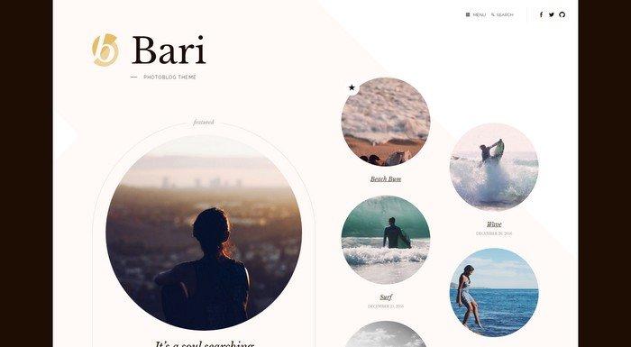 Bari is a creative premium WordPress theme from Themetry.
