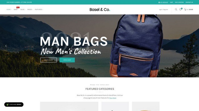 Basel is an WordPress eCommerce theme with a beautiful and spacious shop layout.