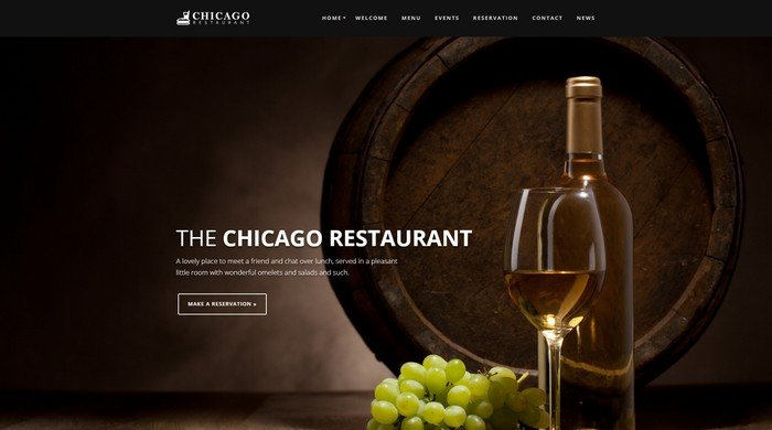 Chicago is a WordPress theme from WPCharming perfect for restaurants.