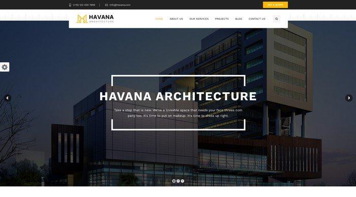 Havana is an architecture WordPress theme from TonaTheme.