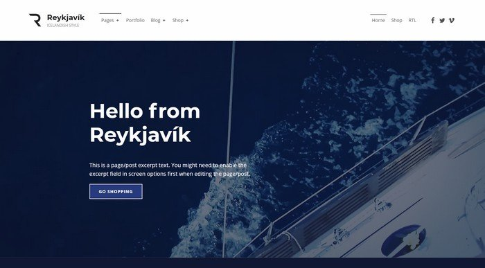 WordPress Themes Named After Cities Worldwide - Reykjavik is a free WordPress theme by WebMan Design.