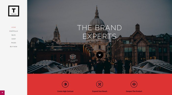 WordPress Themes Named After Cities Worldwide - Toscana is a free WordPress theme from Pojo.me.
